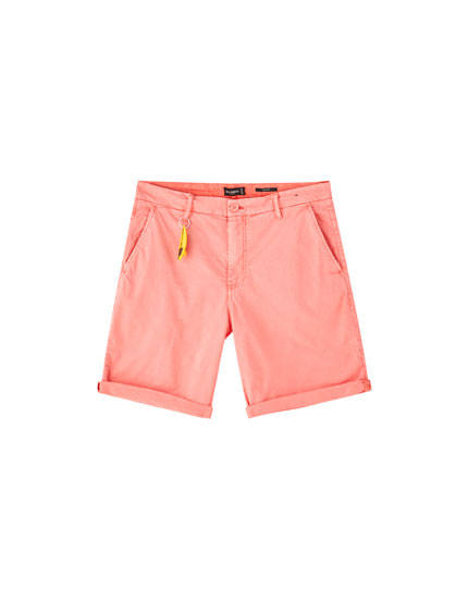 Colourful chino Bermuda shorts