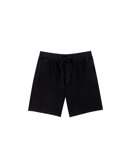 Faded Bermuda jogging shorts