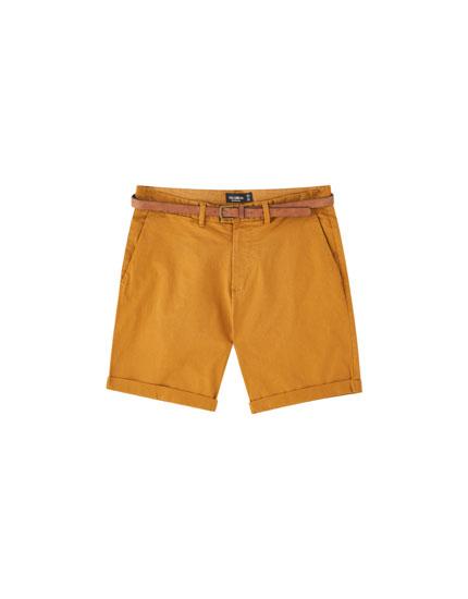 Skinny chino Bermuda shorts