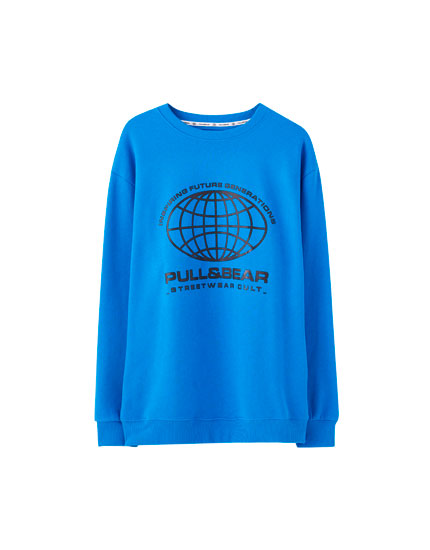 Basic world logo sweatshirt