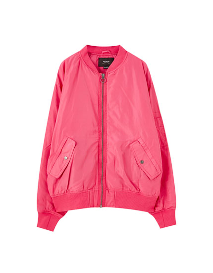 Urban bomber jacket with pockets