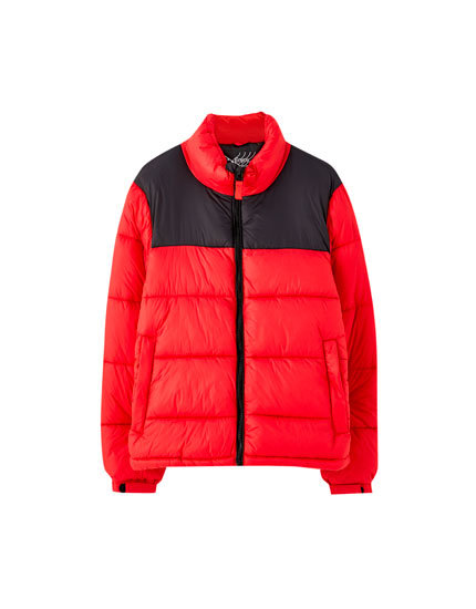High collar puffer jacket in a range of colours