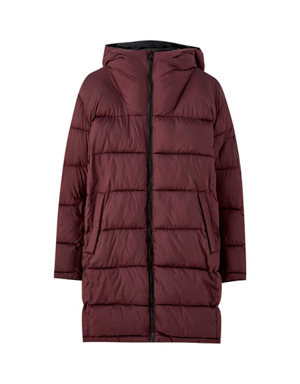 Long puffer jacket in a range of colours