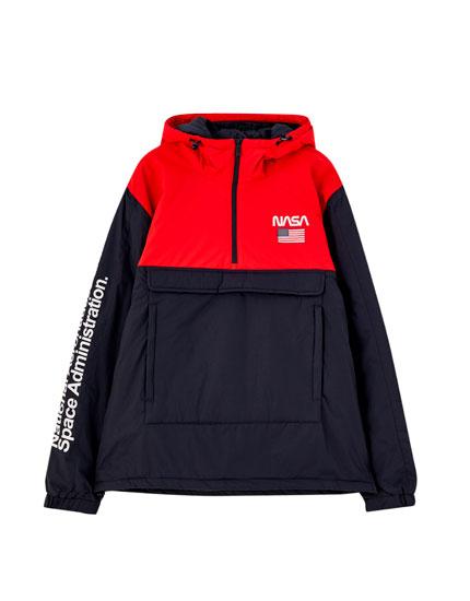 NASA colour block pouch pocket jacket