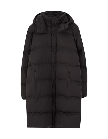 Extra-long quilted coat