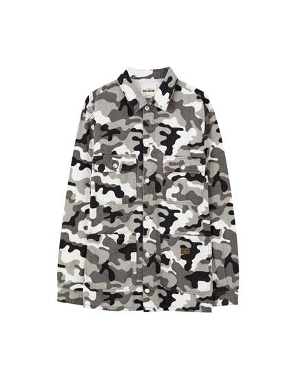 Grey camouflage jacket