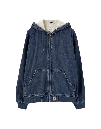 Basic hooded denim jacket