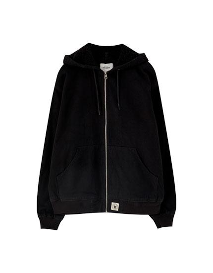 Basic hooded denim jacket