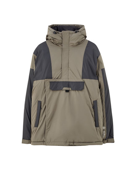 Contrast anorak jacket