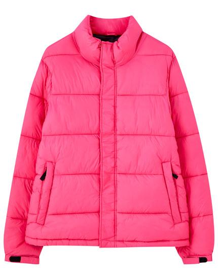 Blusão acolchoado em rosa