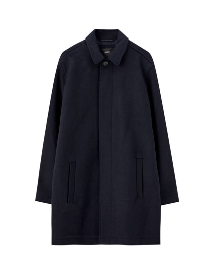 Wool blend Mac coat
