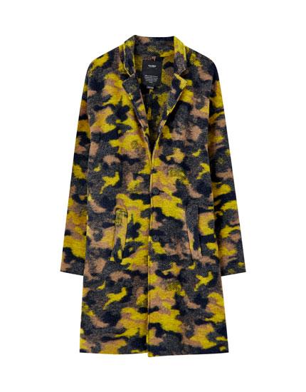 Υφασμάτινο παλτό με σχέδιο παραλλαγής