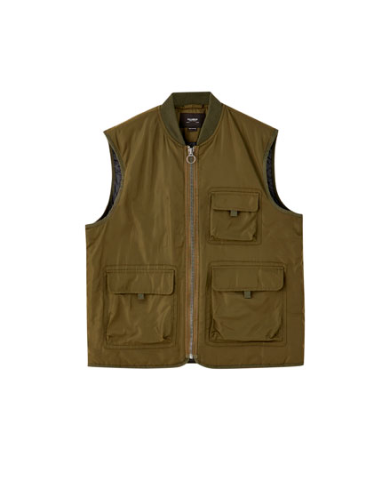 Coloured utility gilet