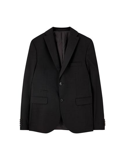 Basic black suit blazer