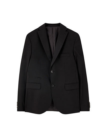 Basic black suit blazer