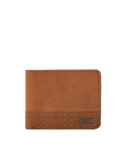 Textured wallet with coin pocket