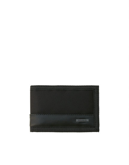 Black hook-and-loop wallet