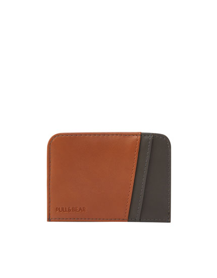 Two-toned wallet with card holder