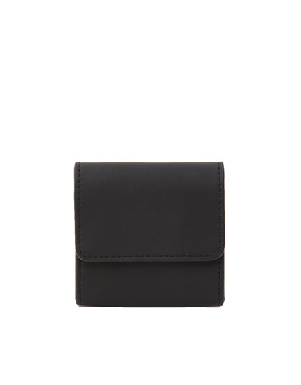 Wallet with double coin pocket