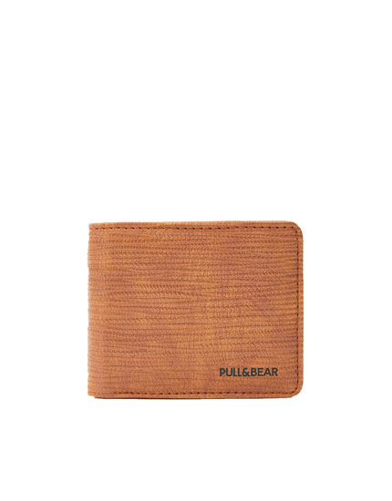 Brown raised-effect wallet