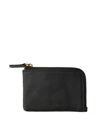 Black panelled coin purse