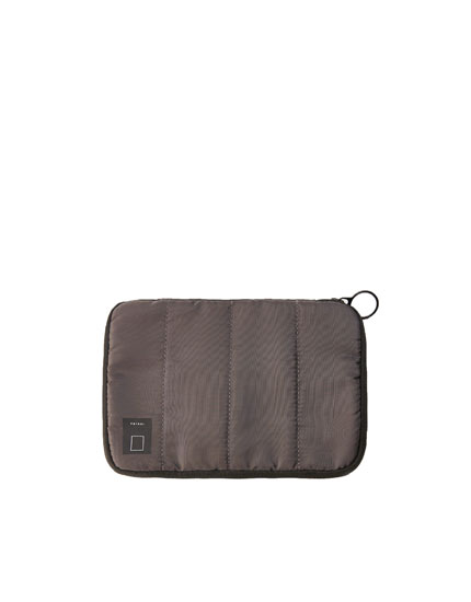 Grey travel toiletry bag
