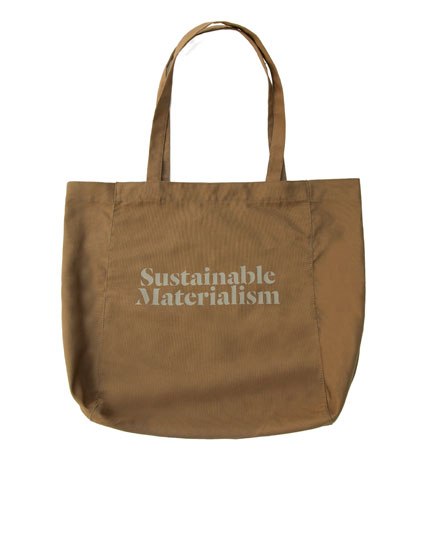 Join Life slogan tote bag