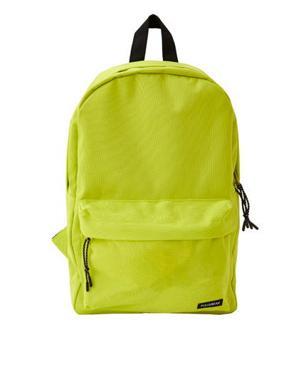 Neon yellow basic backpack