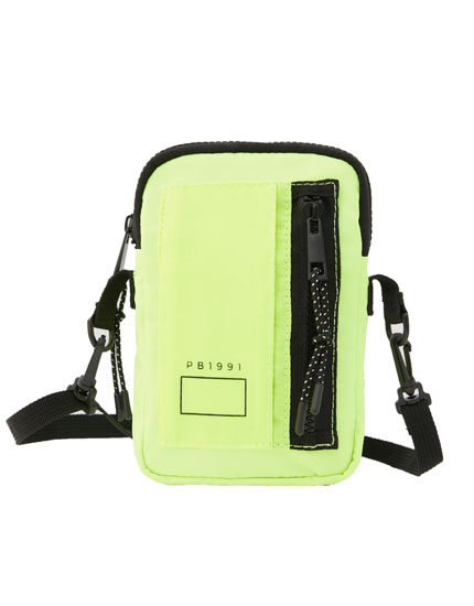 Neon crossbody bag with pocket