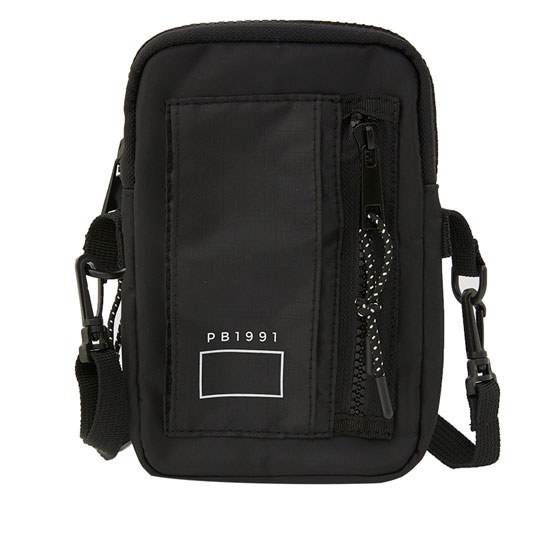 Black crossbody bag with pocket