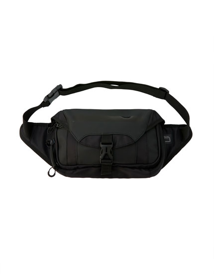 Black rectangular belt bag