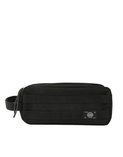 Black belt bag with straps
