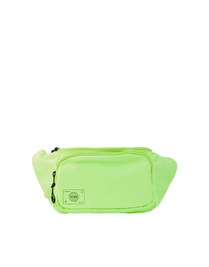 Neon double-pocket belt bag