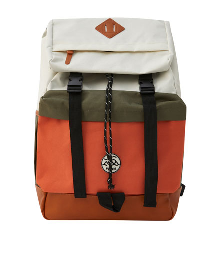 Colour block technical backpack