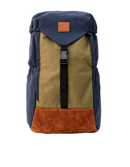Coloured hiking backpack