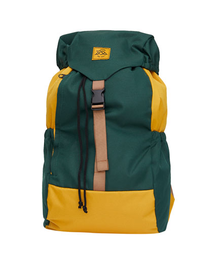 Green hiking backpack