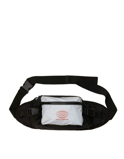 Reflective black belt bag