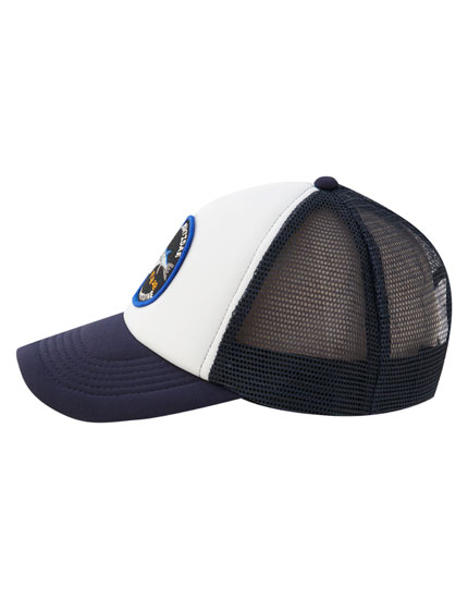 Fish patch mesh cap