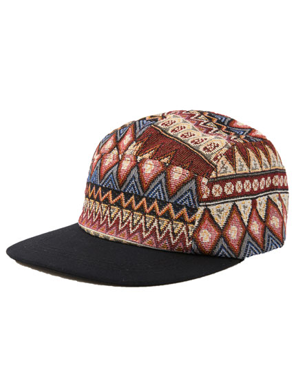 Printed five-panel cap
