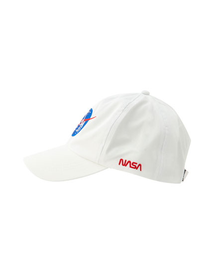 White cap with NASA logo