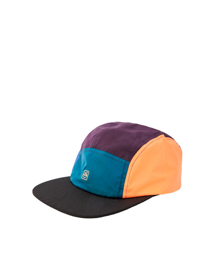 Multicoloured five-panel cap