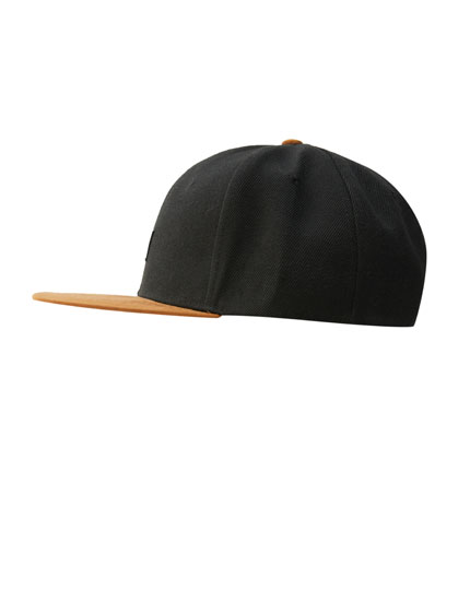 Black five-panel cap