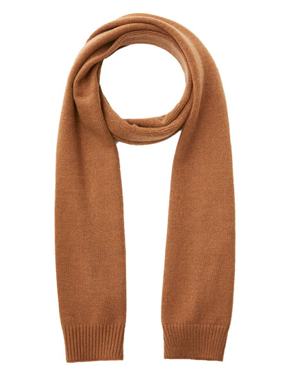 Basic brown scarf