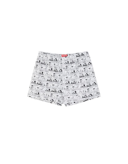 Snoopy comic strip boxer briefs