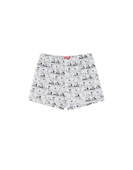 Boxers do Snoopy com vinhetas