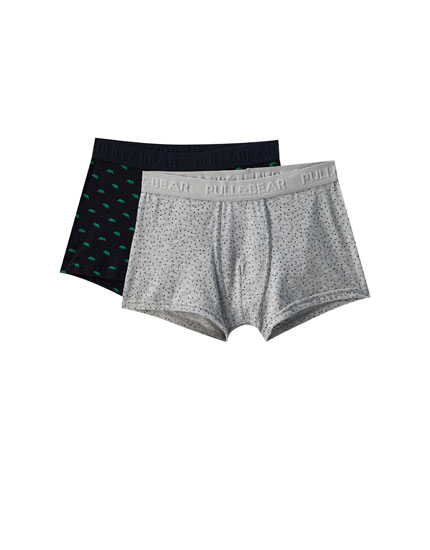 2-pack of dinosaur print boxers