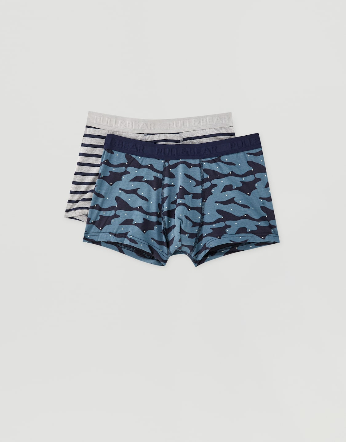 Pack of 2 striped and camouflage boxers