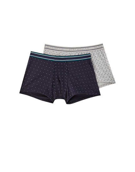 2-pack of boomerang print boxers