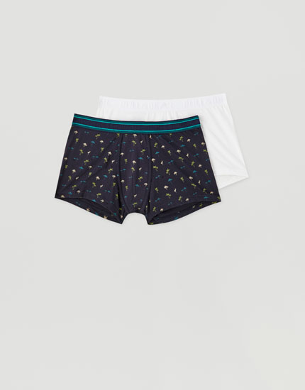 Pack de 2 boxers imprimé flamants