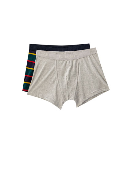 Pack of 2 striped boxers